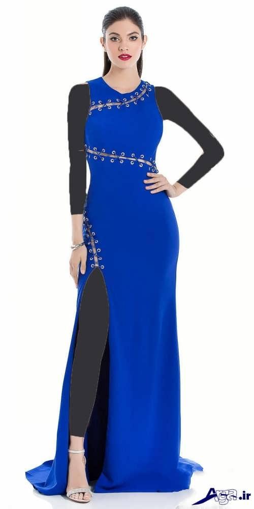 مدل لباس مجلسی ریون بلند