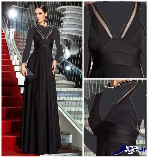 لباس مجلسی ریون بلند زنانه