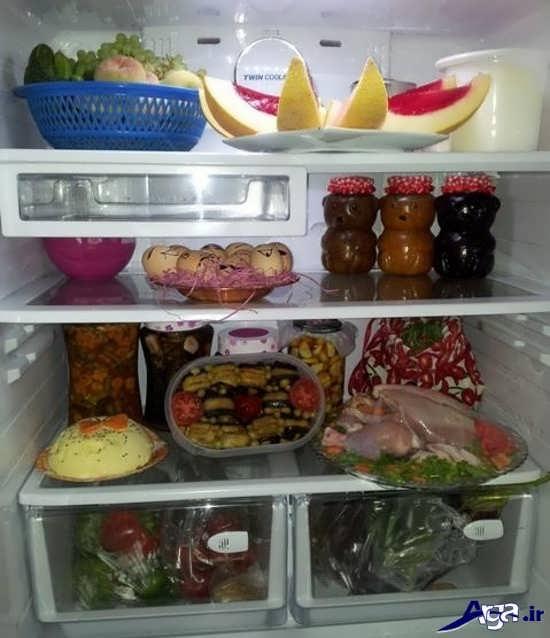 تزیین داخل یخچال عروس 95