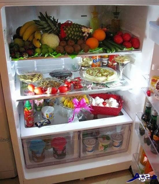میوه آرایی داخل یخچال عروس
