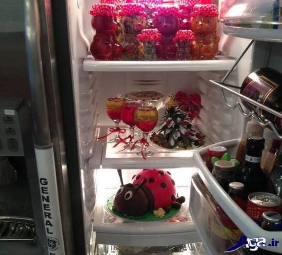 تزیین جدید داخل یخچال عروس