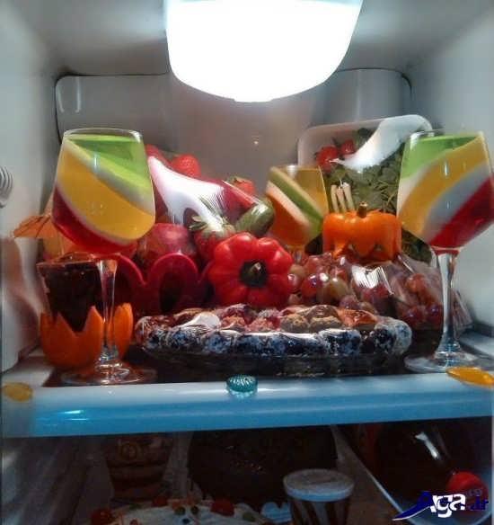 تزیینات داخلی یخچال برای عروس
