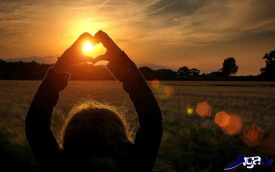 عکس عاشقانه و زیبای غروب آفتاب