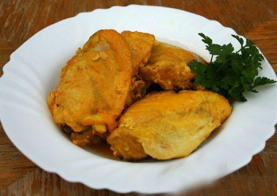 طرز تهیه مرغ زعفرانی با روشی آسان