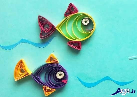 کاردستی ماهی با کاغذ