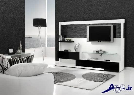 مدل میز تلویزیون ام دی اف باطرح های کاربردی و شیک