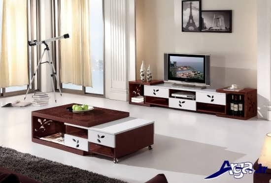 انواع طرح های میز تلویزیون ام دی اف