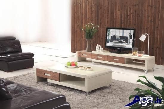 میز تلویزیون زمینی ام دی اف
