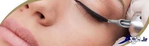بررسی عوارض تاتو خط چشم