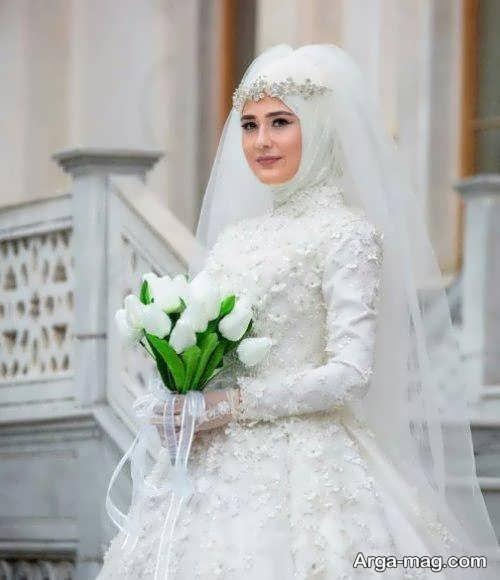 لباس عروس محجبه زیبا