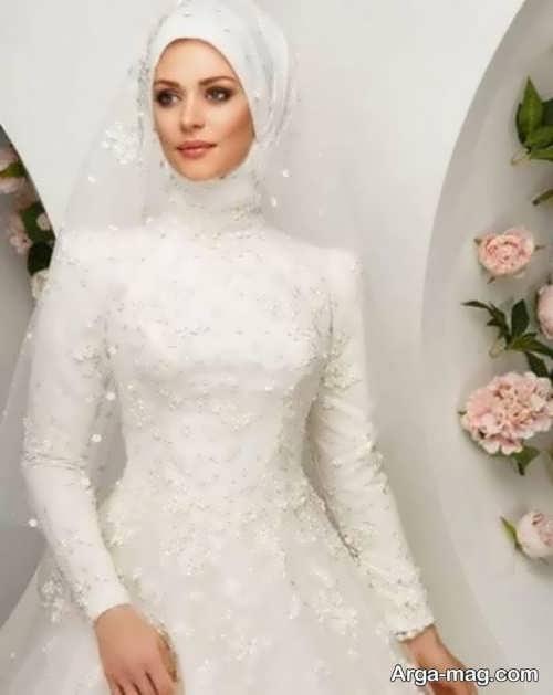 لباس عروس محجبه ساده