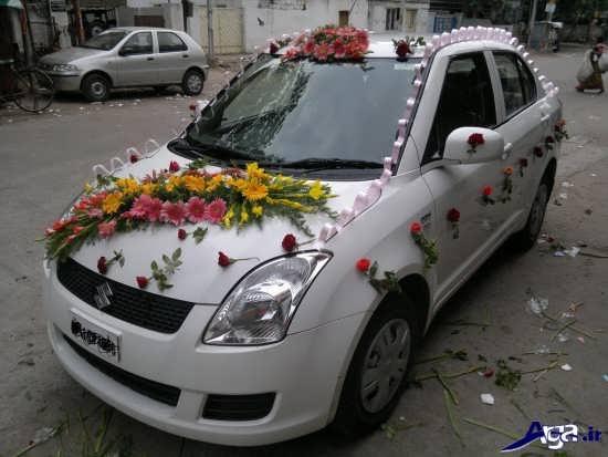 تزیین ماشین عروس جدید