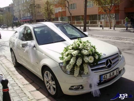 تزیین روی ماشین عروس