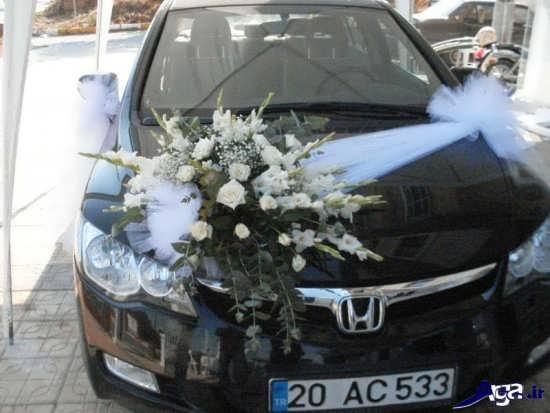 تزیین ماشین عروس و داماد زیبا