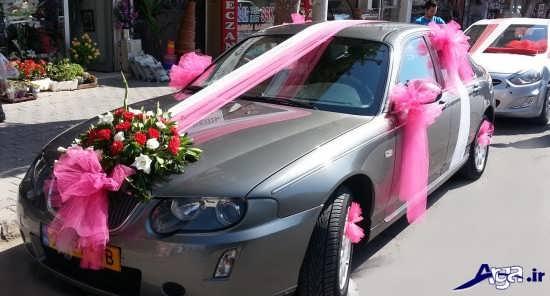 تزیین ماشین عروس با تور
