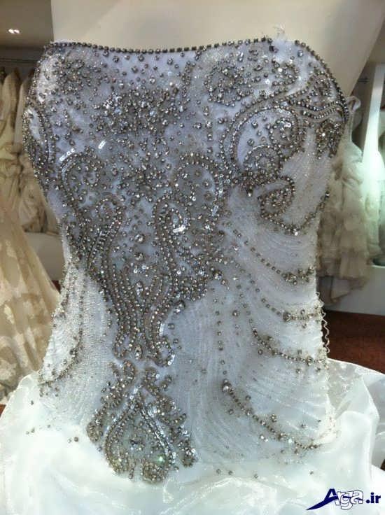تزیین لباس عروس جدید و زیبا