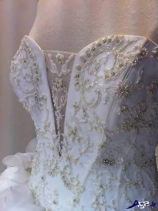 مدل لباس عروس سنگ دوزی شده