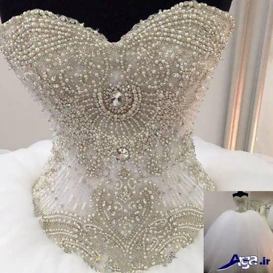 تزیینات لباس عروس جدید