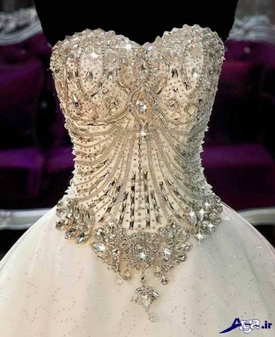 مدل سنگ دوزی روی لباس عروس 95