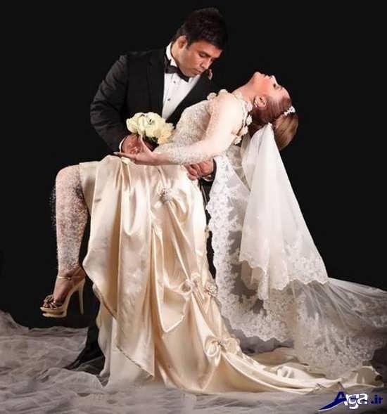 ژست زیبای عکس های عروس و داماد