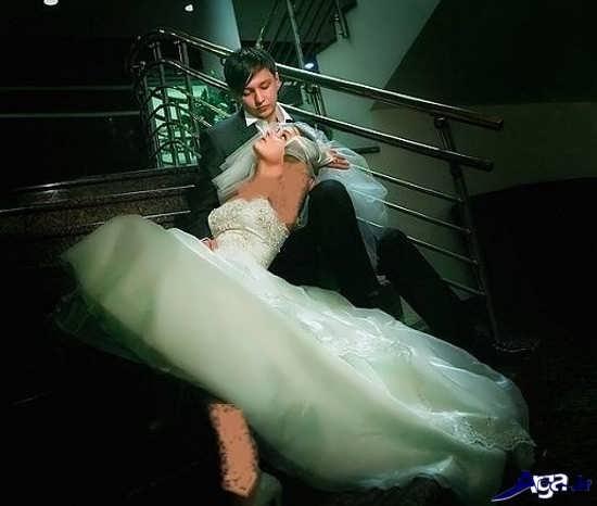 عکس آتلیه عروس و داماد زیبا