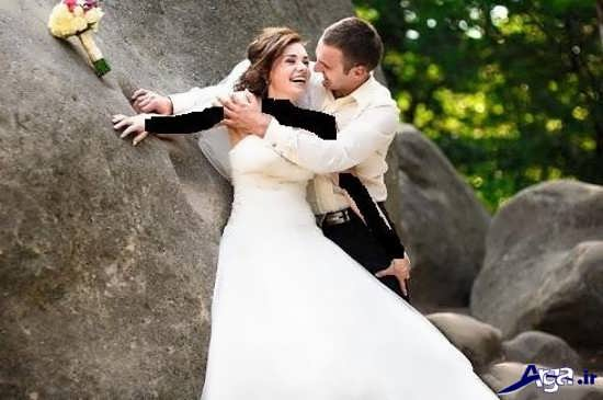 ژست عکس عروس و داماد جدید