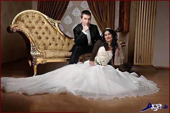 ژست زیبای عکس عروس و داماد