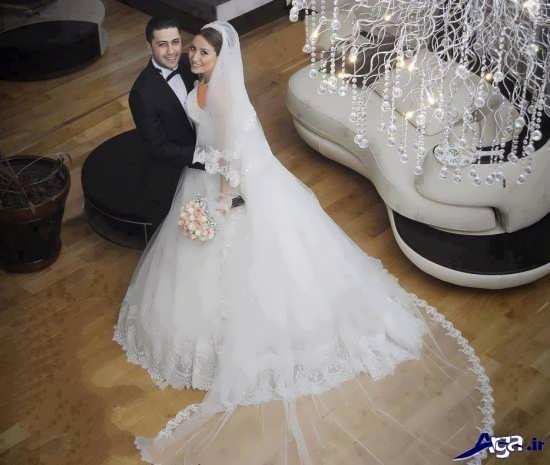 مدل عکس عرو و داماد در آتلیه
