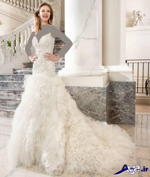 لباس عروس با طرح زیبا و متفاوت