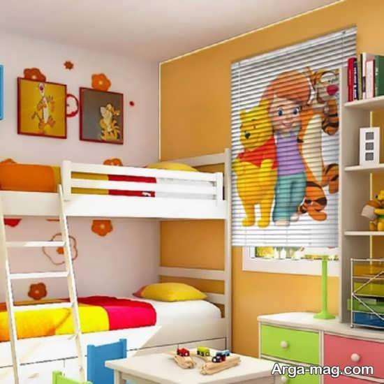 پرده زبرا مدرن برای اتاق کودک