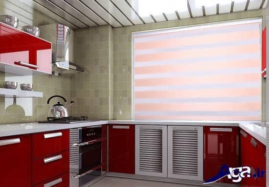 پرده زبرا با رنگ های زیبا برای آشپزخانه