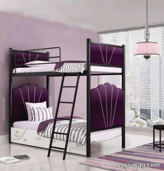 تختخواب دو طبقه فلزی