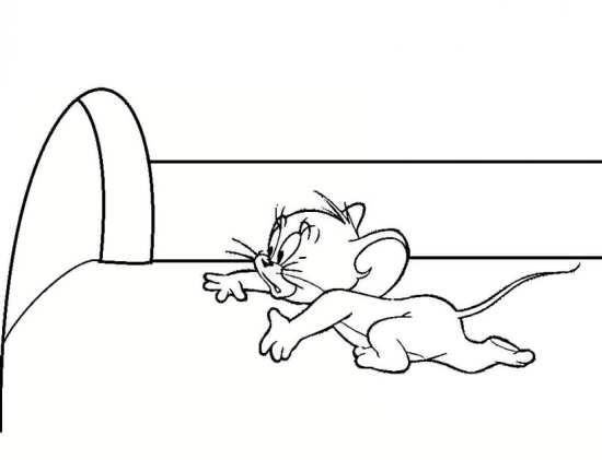 نقاشی موش در تام و جری
