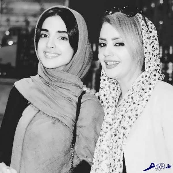 بازیگر زن ایرانی به همراه مادر جوانش