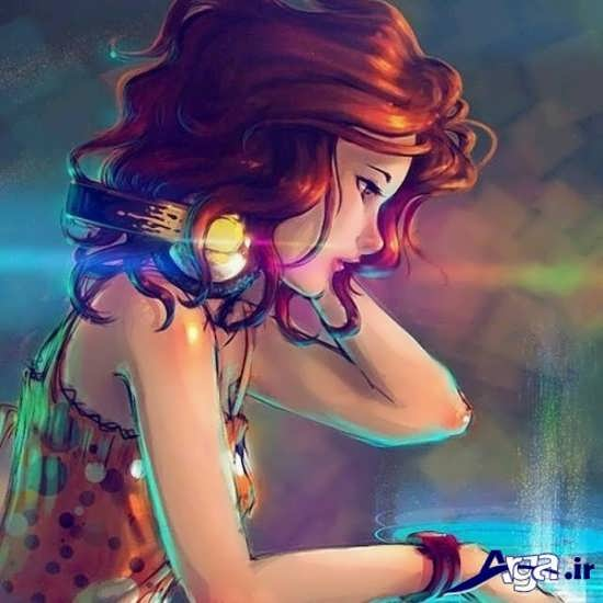 تصاویر فانتزی دختر تنها