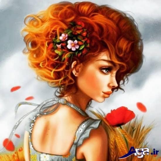 عکس دختر زیبا فانتزی