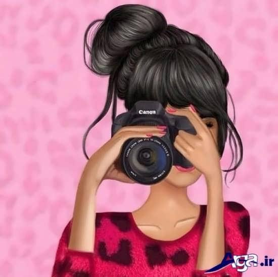 عکس فانتزی دخترانه در حال عکس گرفتن
