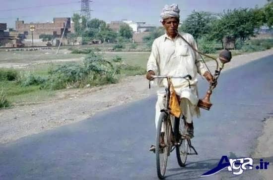 عکس ها جالب دوچرخه و قلیون