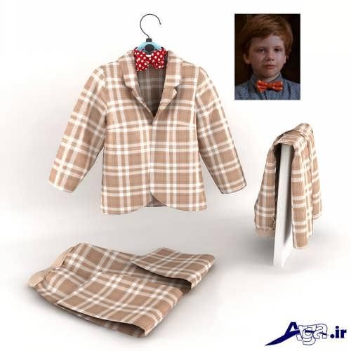 مدل کت و شلوار چهارخانه برای کودکان