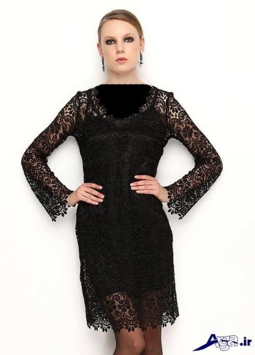 مدل لباس مجلسی گیپور دار