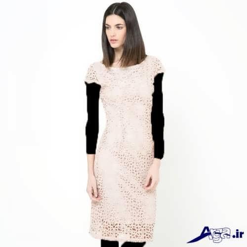 مدل لباس کوتاه گیپور دخترانه و زنانه