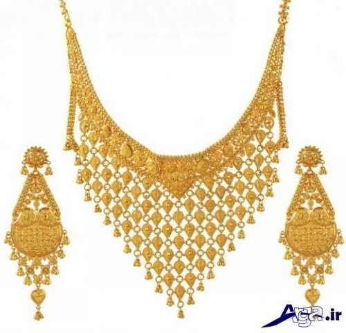 مدل گردنبند طلا بزرگ عربی