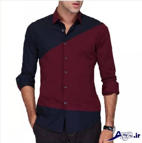 مدل پیراهن دو رنگ پسرانه