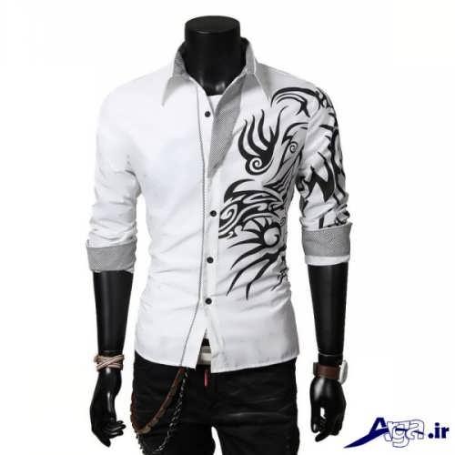 مدل پیراهن پسرانه طرح دار