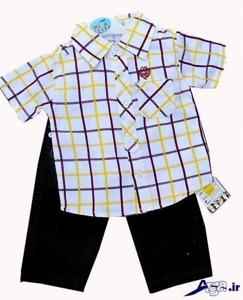 انواع نمونه های پیراهن پسرانه بچه گانه