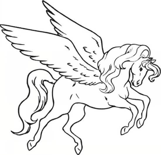نقاشی اسب کودکانه