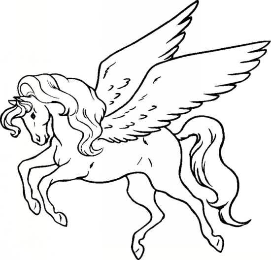 نقاشی از اسب بالدار