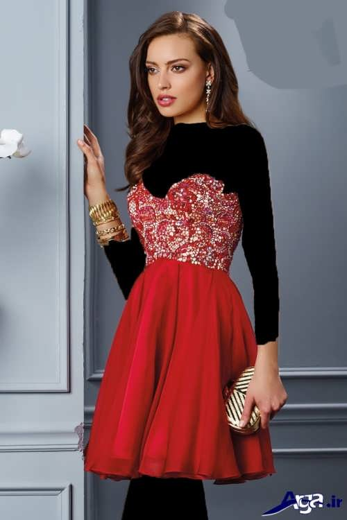 مدل لباس مجلسی دکلته زیبا