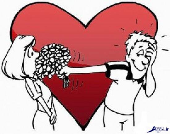 عکس انیمیشنی خنده دار و عاشقانه