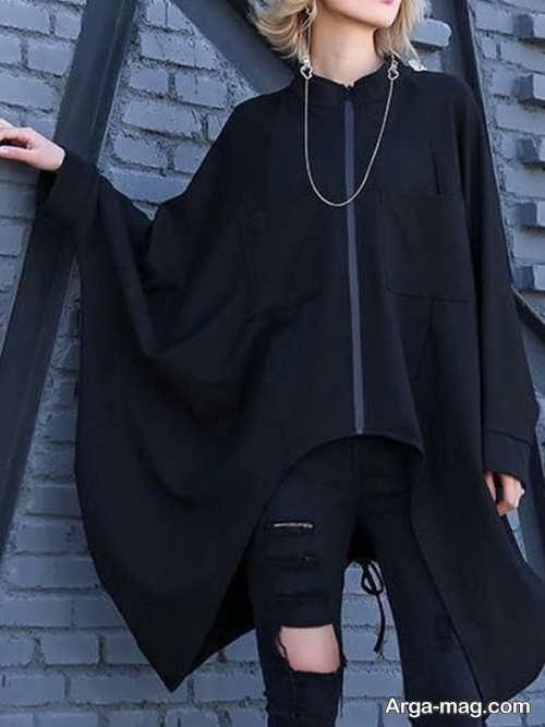 مدل مانتوی خفاشی دخترانه